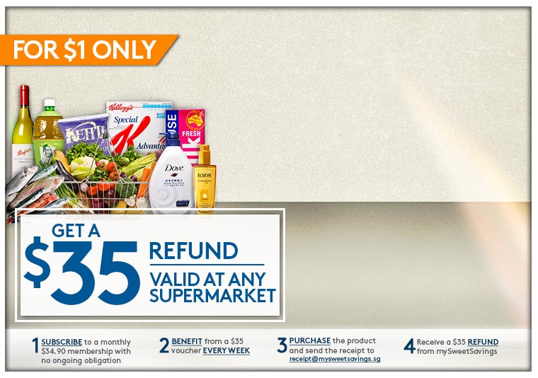 A $35 Refund valid at any Supermarket